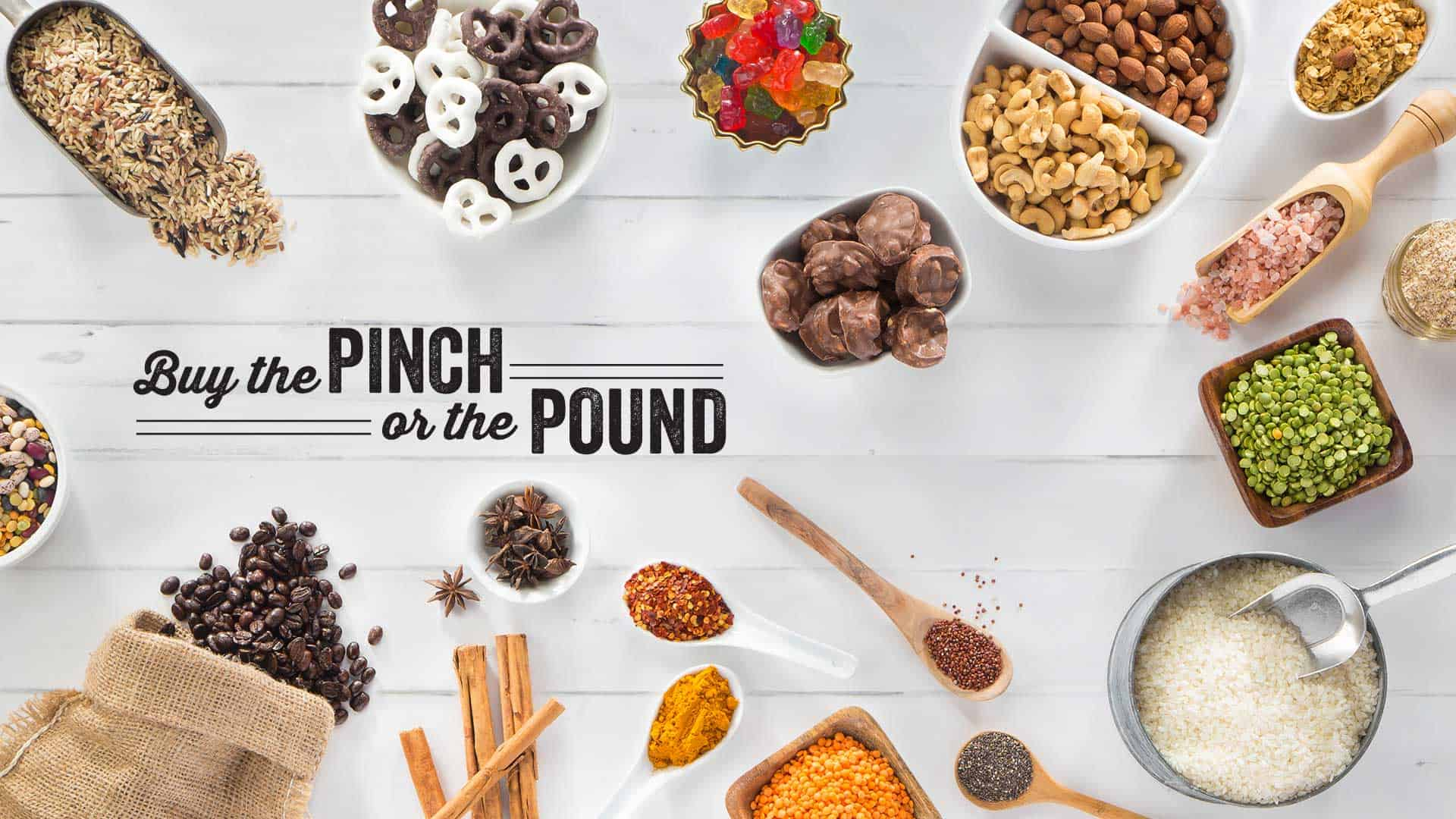 Buy the Pinch or the Pound Poster with assorted foods