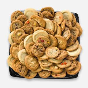 Tray filled with cookies