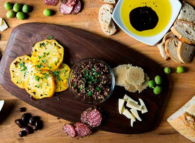 olive oil bar and foods