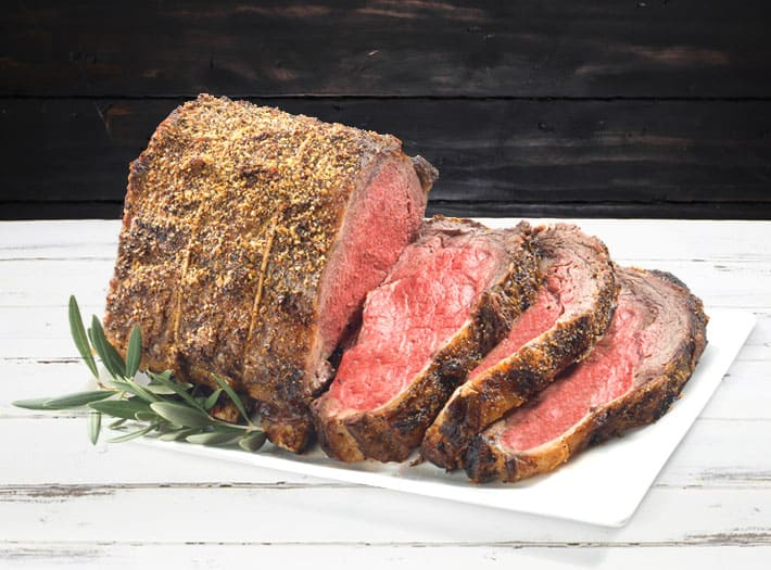 Holiday rib roast centerpiece meat