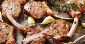 Basil Grilled Lamb Shoulder Chops