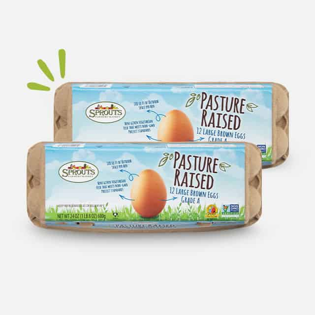 Sprouts Brand Pasture Raised Eggs