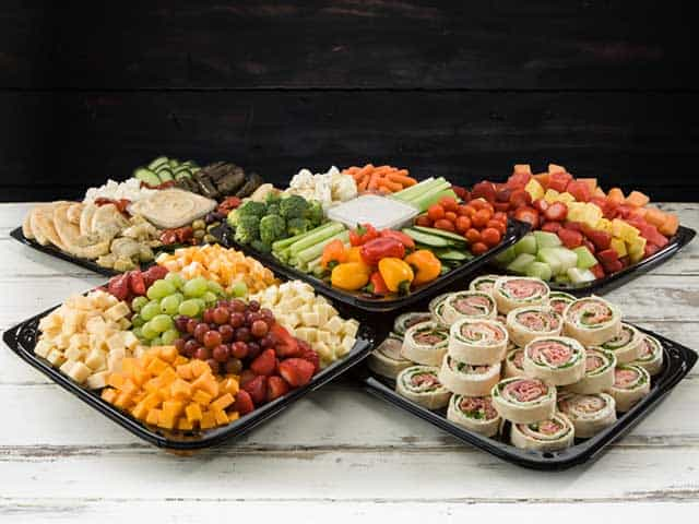 Graduation party catering trays