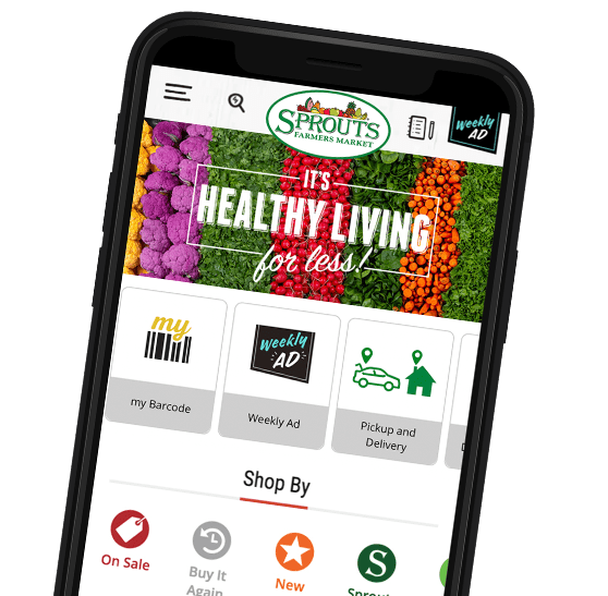 Sprouts App on iPhone