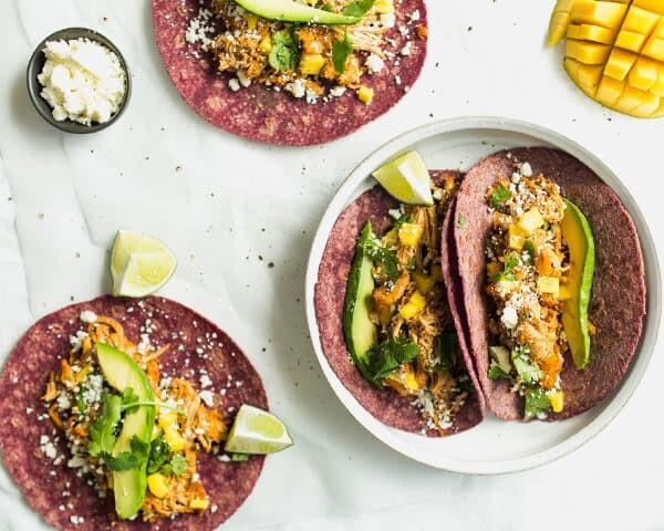 Enchilada Tacos on a Plate
