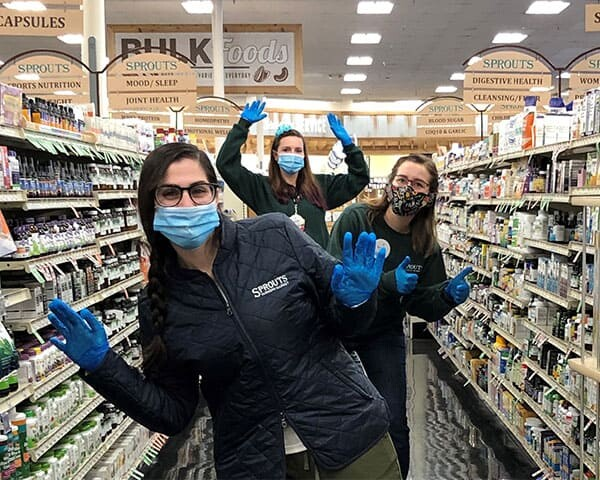 Vitamin Team Members with Gloves
