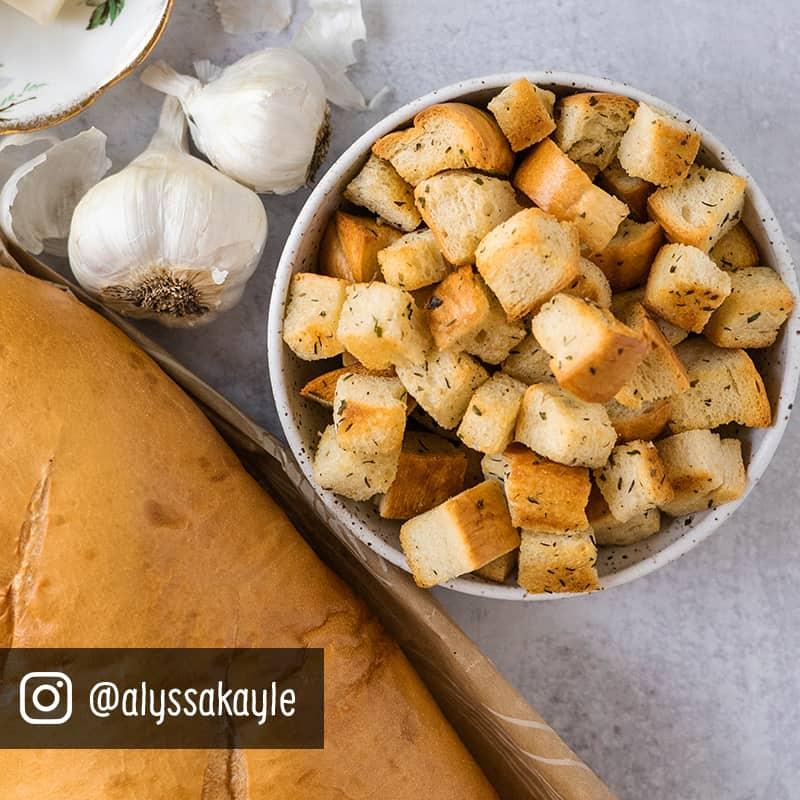 Herb Butter Garlic Croutons